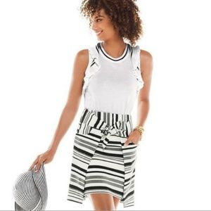 Cabi Topspin White Sweater Tank